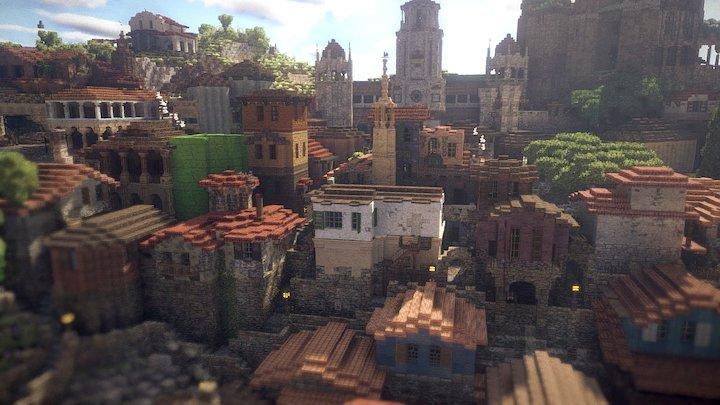 Harbor Town 3D Model