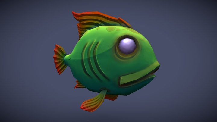 Low Poly Fish 3D Model
