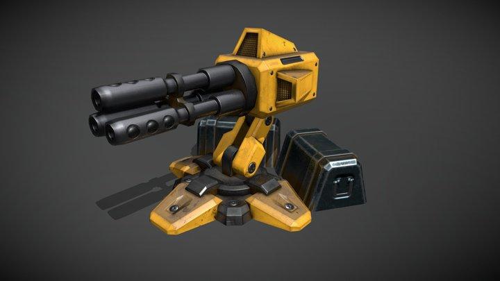 Sketchfab Gatling Gun 3D Model
