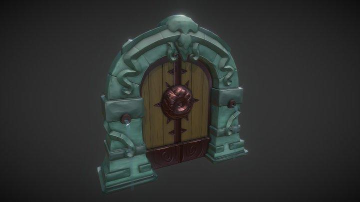 Dungeon Door Model 3D Model