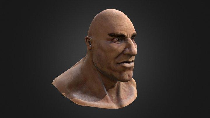 Cop Character Bust 3D Model