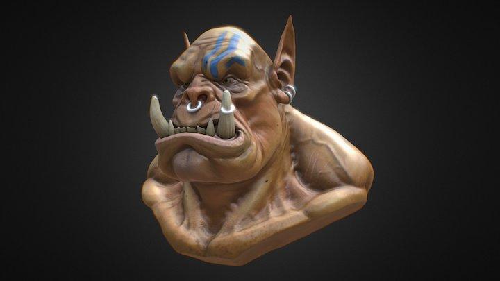 Orcish Bust 3D Model