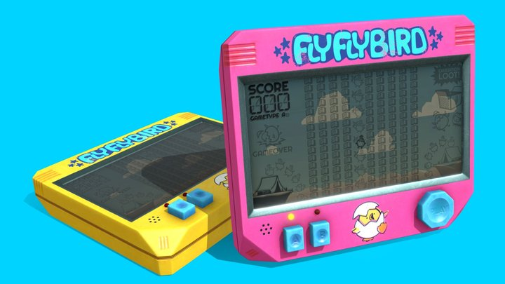 FlyFlyBird LCD Handheld 3D Model