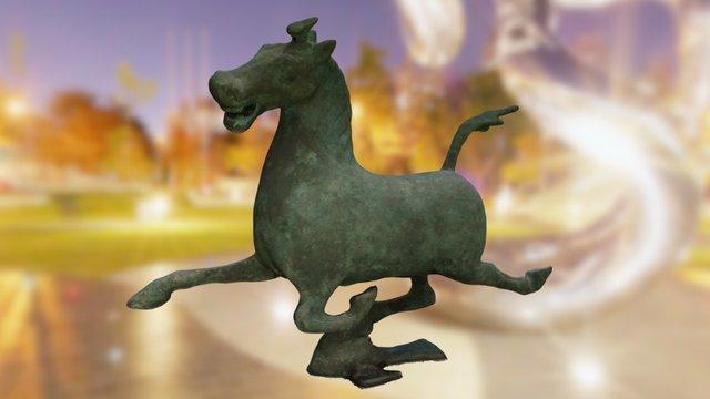 馬踏飛燕Galloping Horse Treading on a Flying Swallow 3D Model