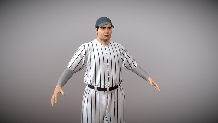 Babe Ruth 3D Model