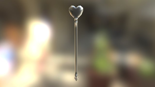 Heart Staff 3D Model