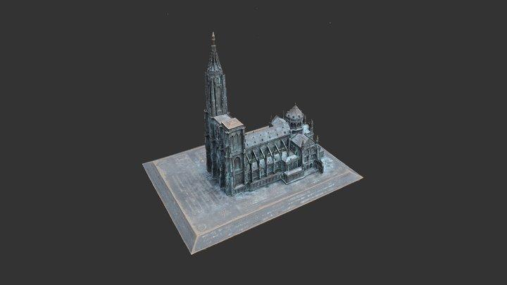 Maquette 3D en bronze - Cathédrale de Strasbourg 3D Model
