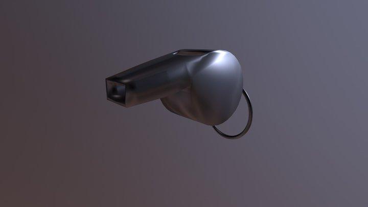 Coach Whistle 3D Model