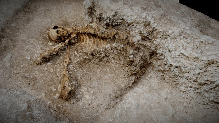 Anglo Saxon Burial c.600AD 3D Model