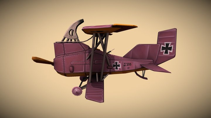 Stylized Junkers Airplane 3D Model