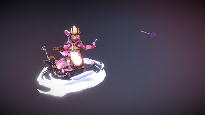 Trebble Slash Sister - A Sergi Brosa Concept 3D Model