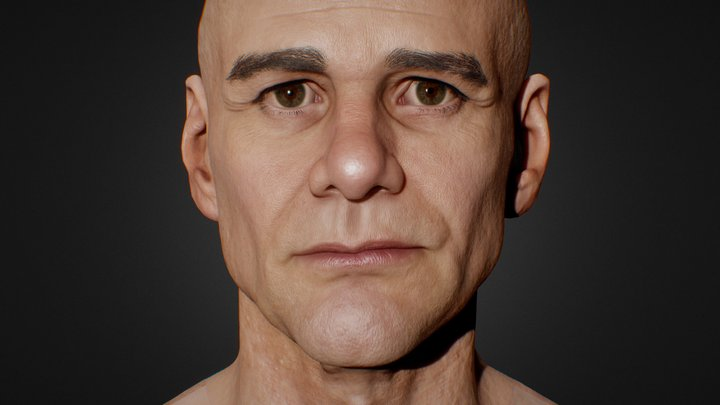 Jim Carrey 3D Model 3D Model