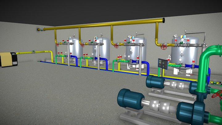 Filtrazione Completa (rev.2a) 3D Model
