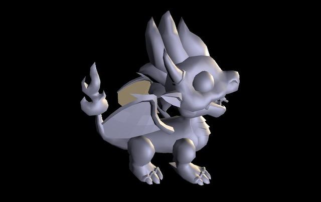 Dragon LOW 3D Model