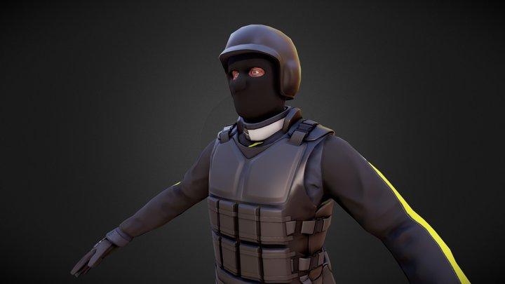 Scifi Police 3D Model