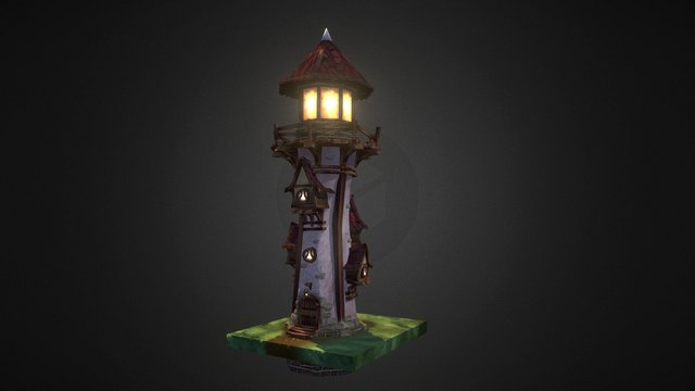 Village_lighthouse (Team Creepy) 3D Model
