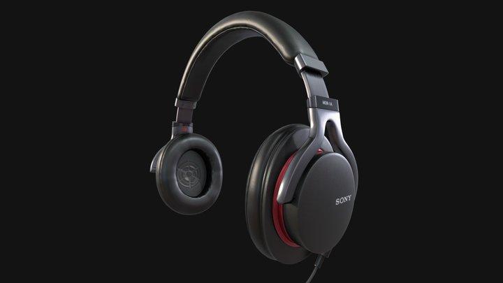 SONY MDR-1A Black Headphones - Highpoly 3D Model