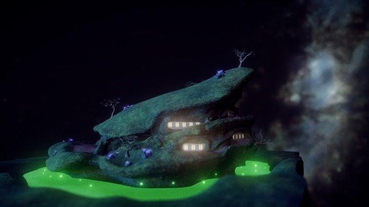 Troglodyte mountain 3D Model