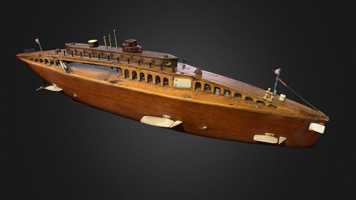 Sous-marin de la Première Guerre mondiale 3D Model