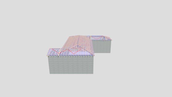 P12361B-Mears-Wetherdown Lodge-Roof Trusses 3D Model