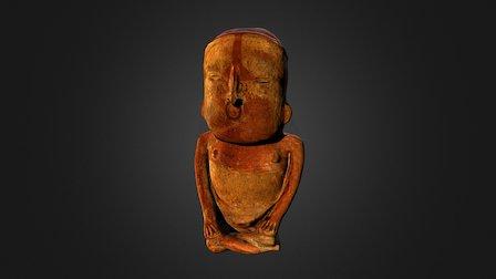 Urne anthropomorphe, culture Teco 3D Model
