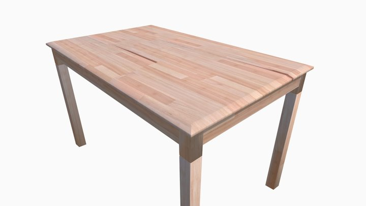 Wooden Kitchen Table 3D Model
