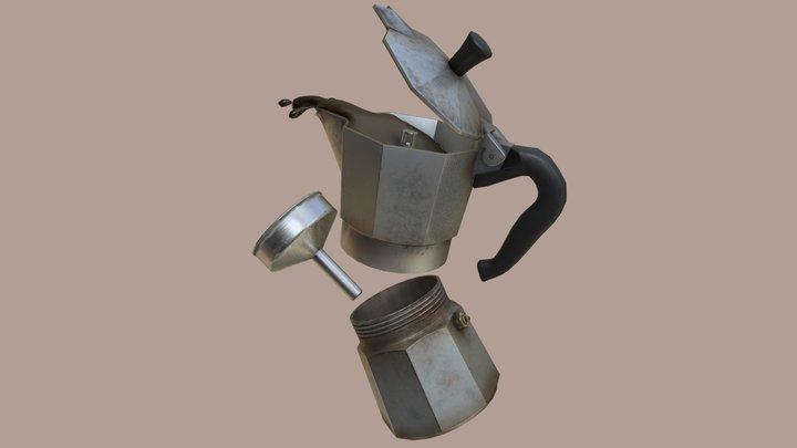 Old Italian Kettle 3D Model