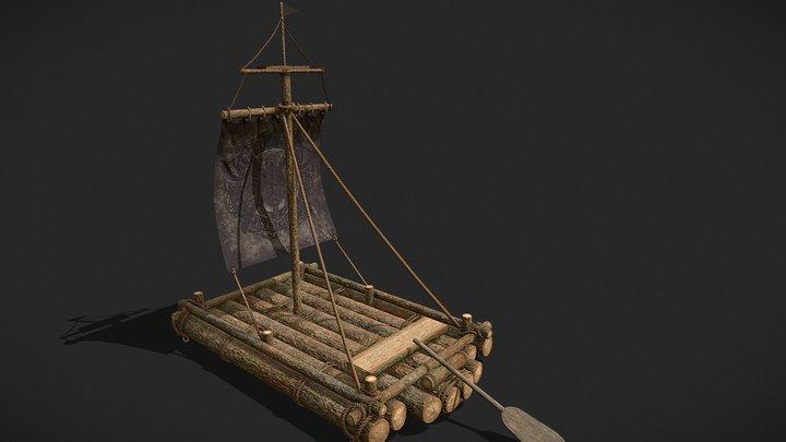 Medieval_Raft_FBX 3D Model