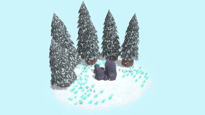 Snowy Forest 3D Model