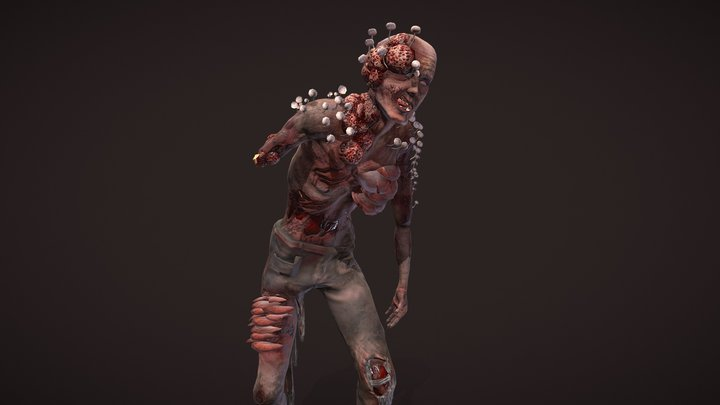 Infected Character 3D Model
