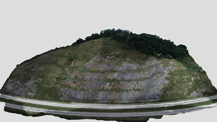 Helderberg Formation - Patterson Creek Mtn 3D Model