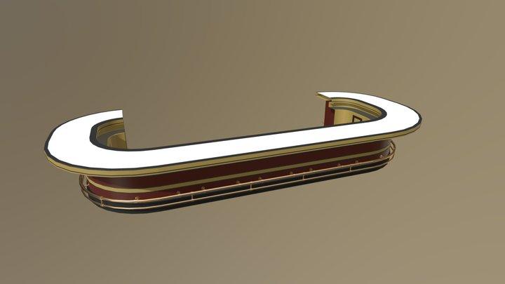 "Modular ""Passengers"" bar - Example + Footrest 3D Model"