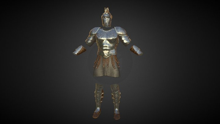 Fantasy Armor Full set ( 2k maps) 3D Model