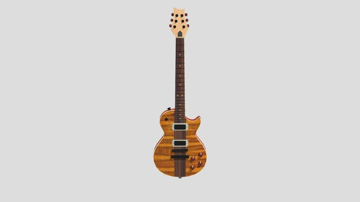 Gibson Les Paul Thin with a PRS Style Neck 3D Model