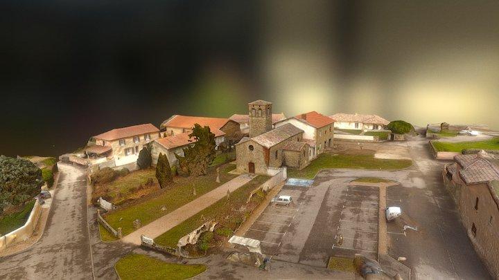 Eglise Saint Roch de Serpaize - 38200 3D Model