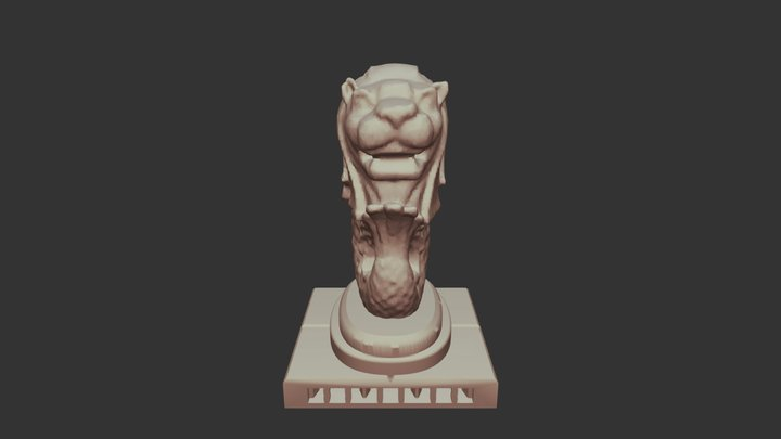 OpenLOCK Compatible - Merlion Statue Tile 3D Model
