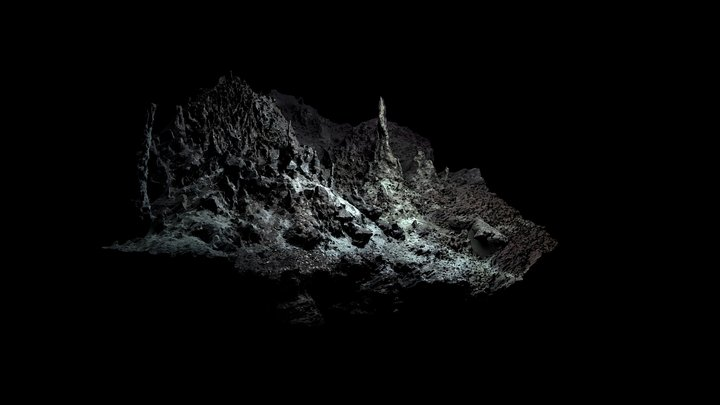 Low Poly Deep Sea Hydrothermal Vent #5 3D Model