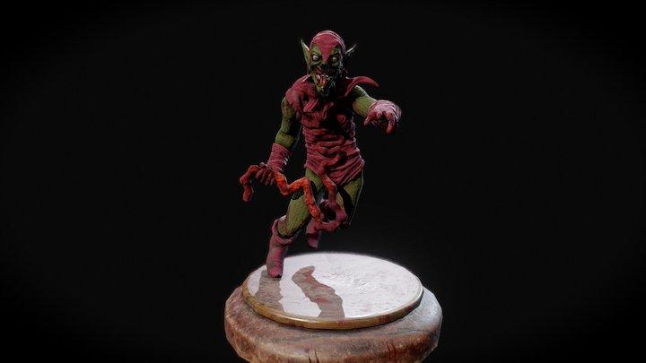 Zombified Green Goblin 3D Model