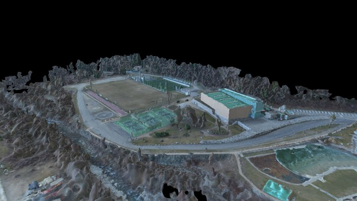 Complexe sportif de Roquebillière 3D Model