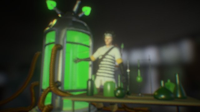 Mad Scientist (LUNA3D adult male option) 3D Model
