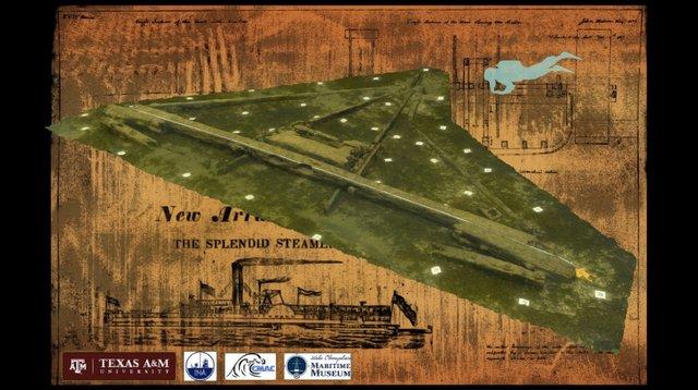 Wreck No. 4 Paddlewheel Box Support: SSSGP2015 3D Model