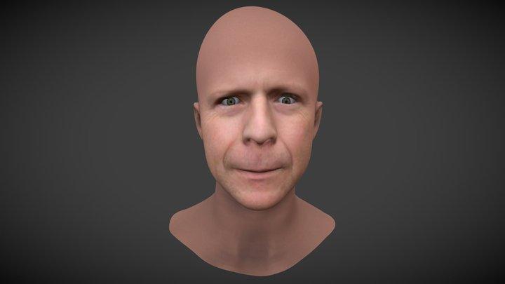 Bruce Willis - Facesoft Reproduction 3d Model 3D Model