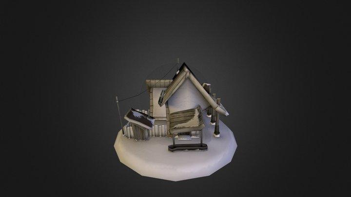 Snowy Scene 3D Model