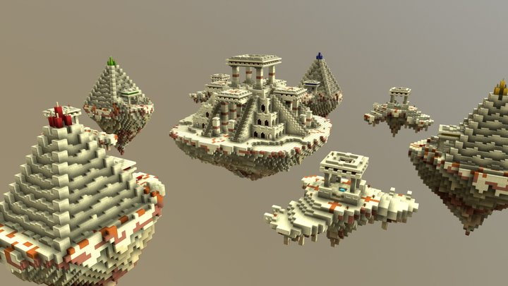 Bedwars Map - Cairo 3D Model