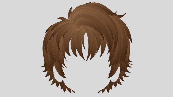 Anime hair (Wolf Style) 3D Model