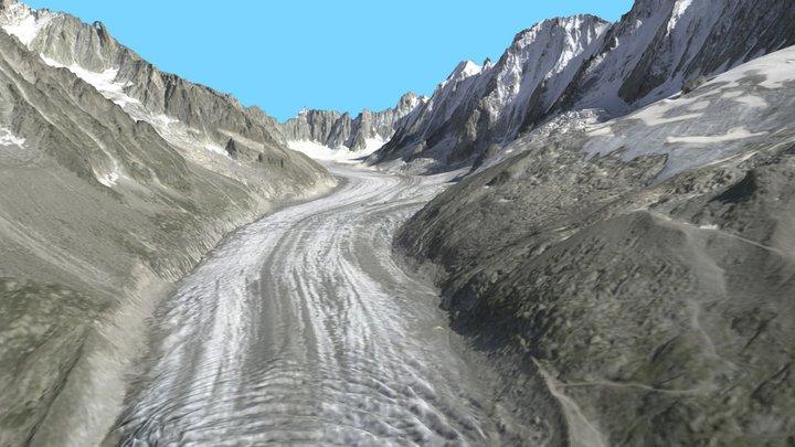 Glacier d'Argentière en 2012 3D Model