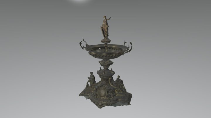 Solid Silver Epergne 3D Model