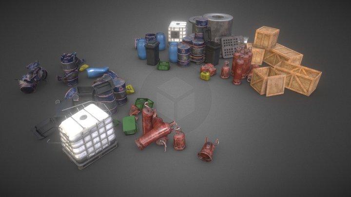 Barrel pack 3D Model