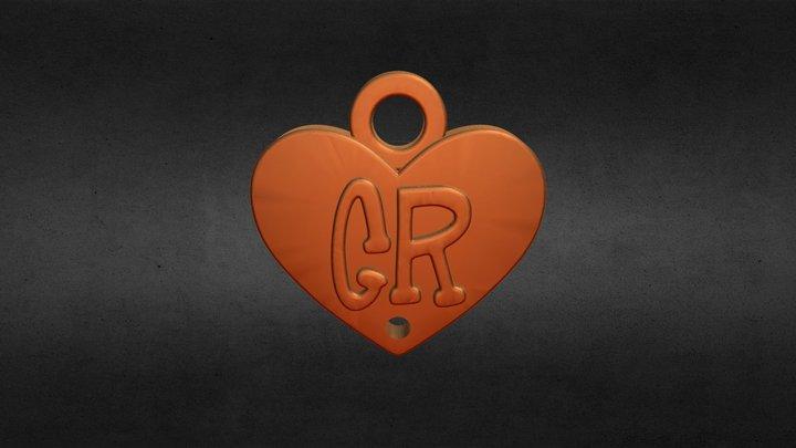 Aplique corazon CR 3D Model