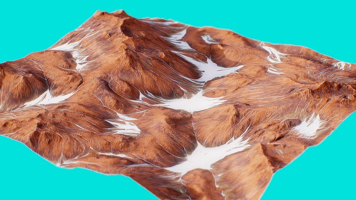 Mars Landscape 2 3D Model
